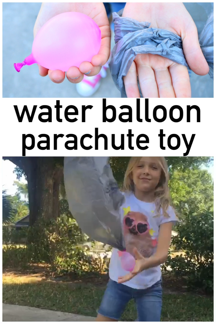 Photo of Vannballong fallskjerm DIY leketøy for utendørs lek
