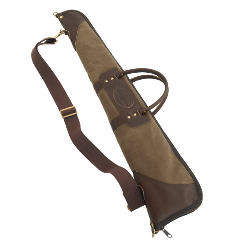 Lambs Wool Lining Gun Luxury Brown Leather Scoped Rifle Case