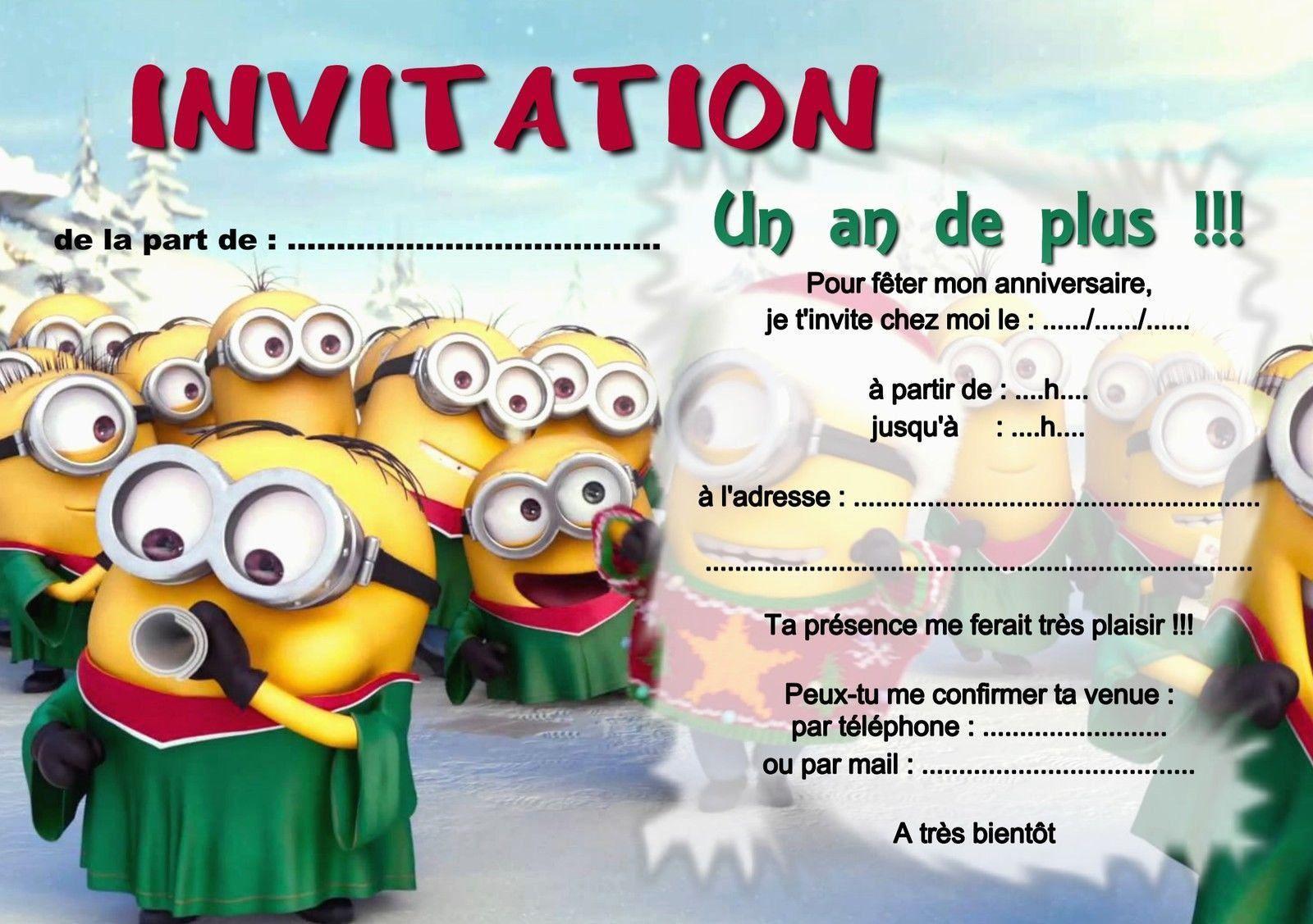 Carte Invitation Anniversaire Garcon 10 Ans Gratuite Imprimer