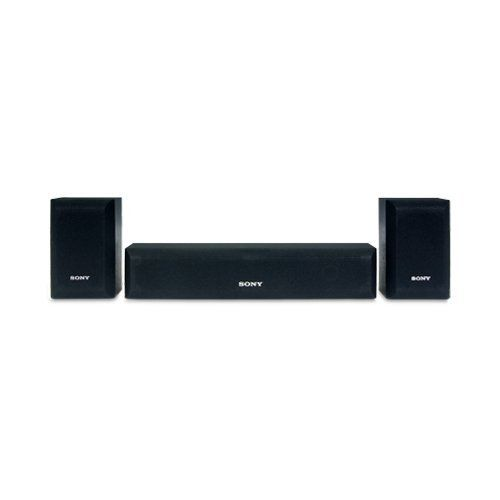 Sony Three Piece Speaker Package 120 Watt Center 110 Watt Surround Bravia Matching Design Center Home Theater Speaker System Sony Home Theatre Rear Speakers