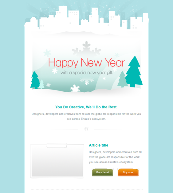 this holiday and christmas email template offers a responsive layout mailchimp and. Black Bedroom Furniture Sets. Home Design Ideas