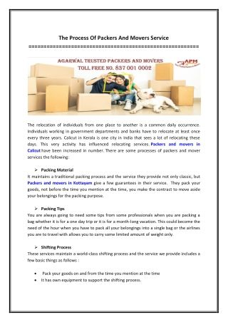 The Process Of Packers And Movers Service With Images Packers