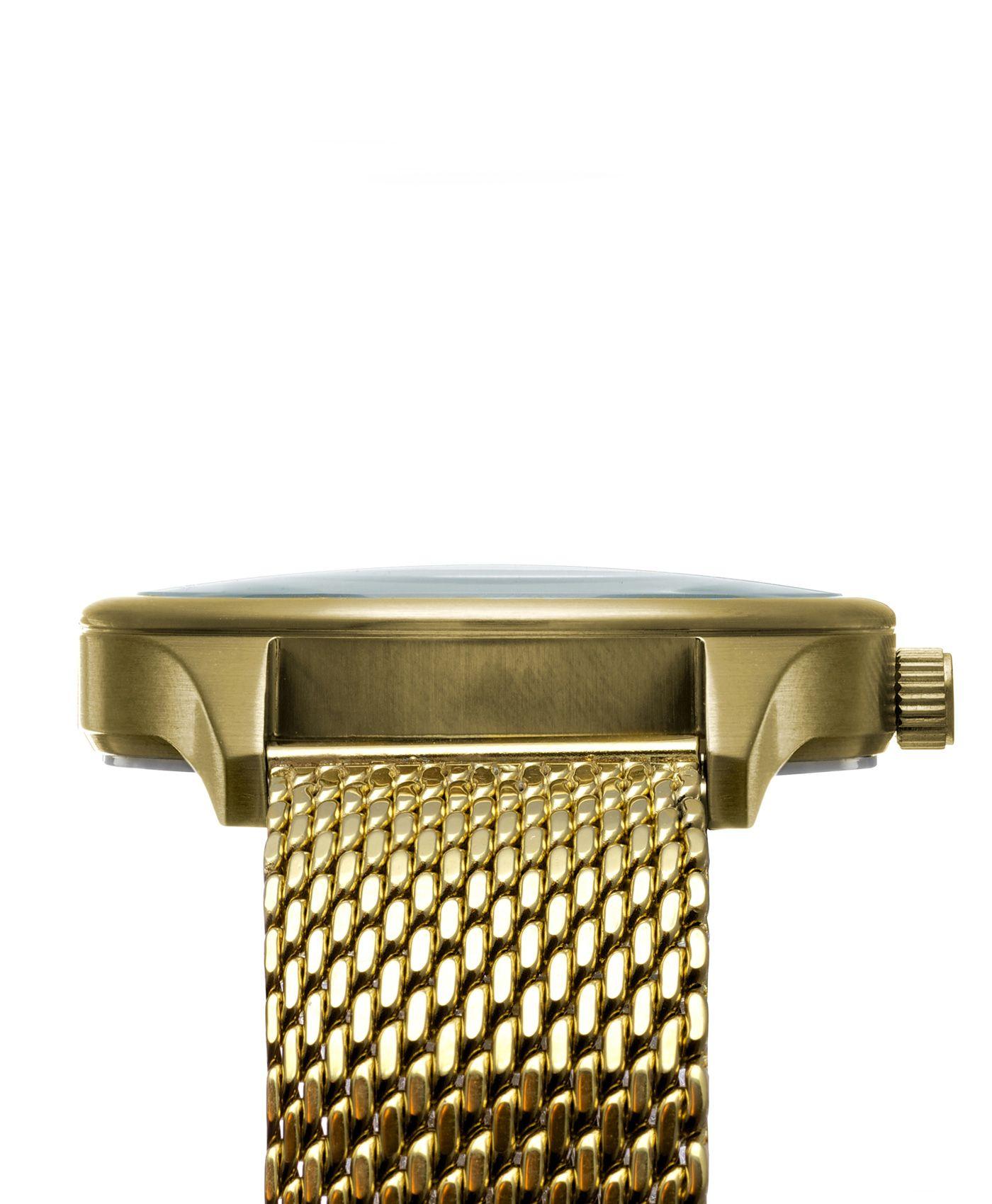 Miró Classic 40mm Gold Creme Mesh - Detail
