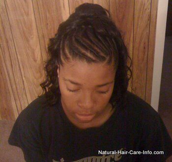 cornrow with ponytail styles | Cute Ponytail, Curly Ponytail, Ponytail Hair Styles