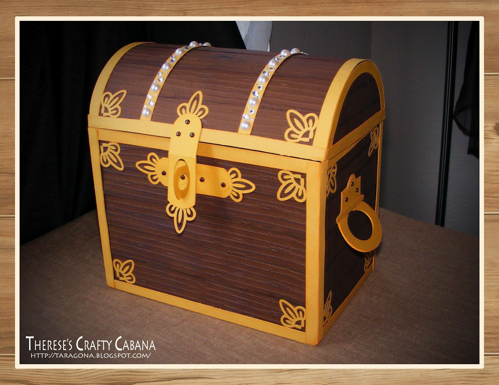 What a cool treasure chest Therese designed using RYAN'S PLAY DATE SVG KIT, MY DAY WITH DAD SVG KIT and FRENCH QUARTER IRONWORK SVG COLLECTION. The lid opens up! Check out her blog to see how she did it! Amazing!