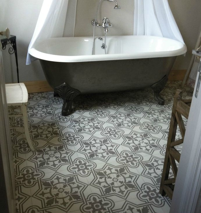 Carreau de ciment royal gris salle de bain 20x20 cm | Stone floors ...