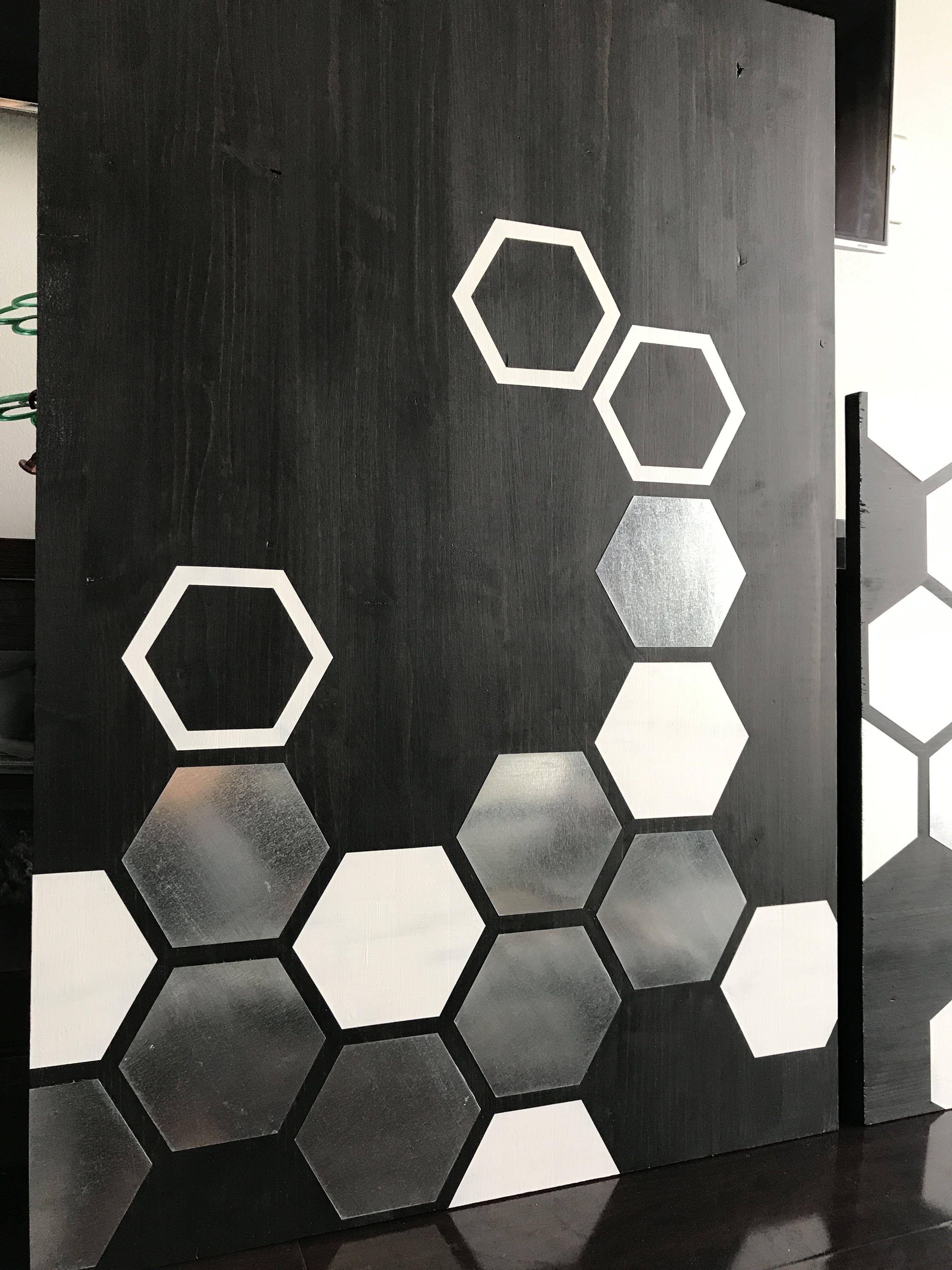 Metal wall art wood wall art modern wood geometric painting