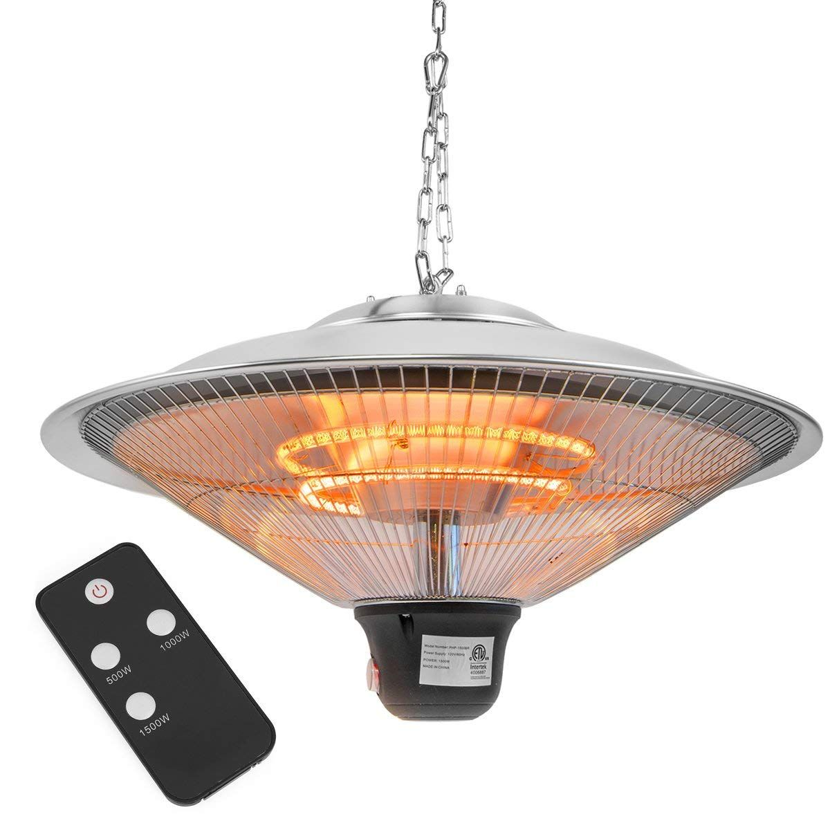 Xtremepowerus 20 Ceiling Electric Hanging Heater 1500 Watt W Remote Controller Hanging Garden Ceiling Patio Heater