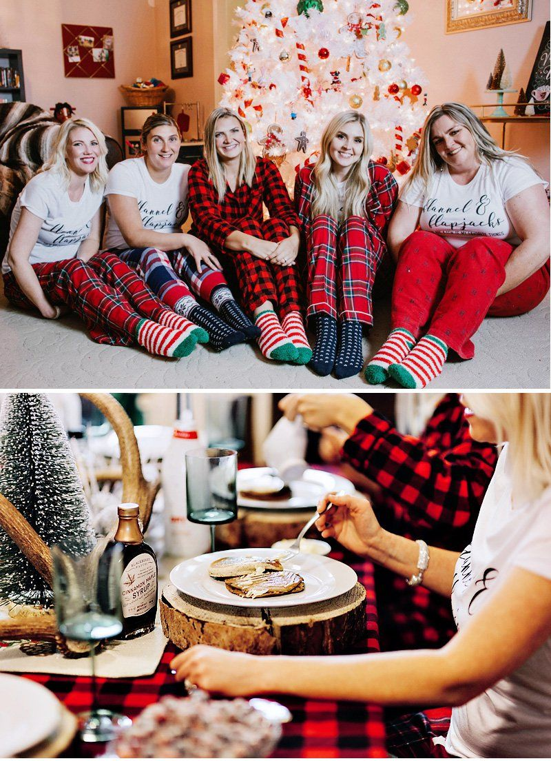 A Rustic Flannels & Flapjacks Holiday Party Christmas