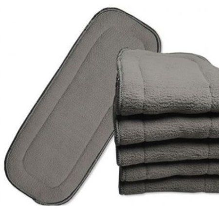 NEW 5 LAYERS CHARCOAL BAMBOO CLOTH INSERTS FOR  CLOTH DIAPER WASHABLE REUSABLE