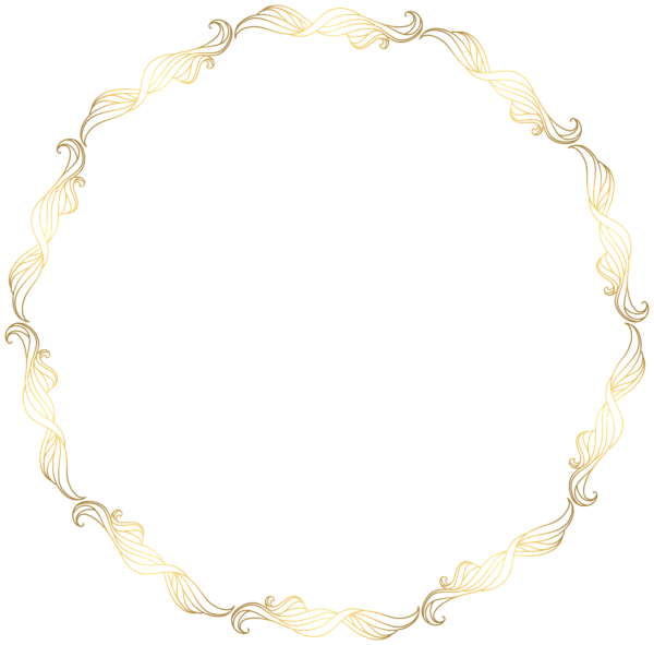Floral Gold Round Border Transparent Clip Art Image Art Images Clip Art Free Clip Art