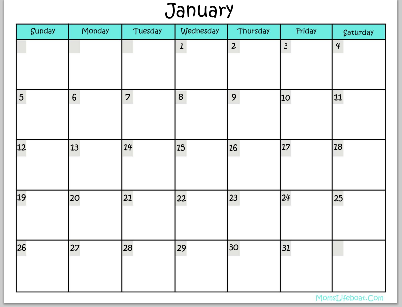 Updated Printable Calendar  Thirty Handmade Days  Calendar