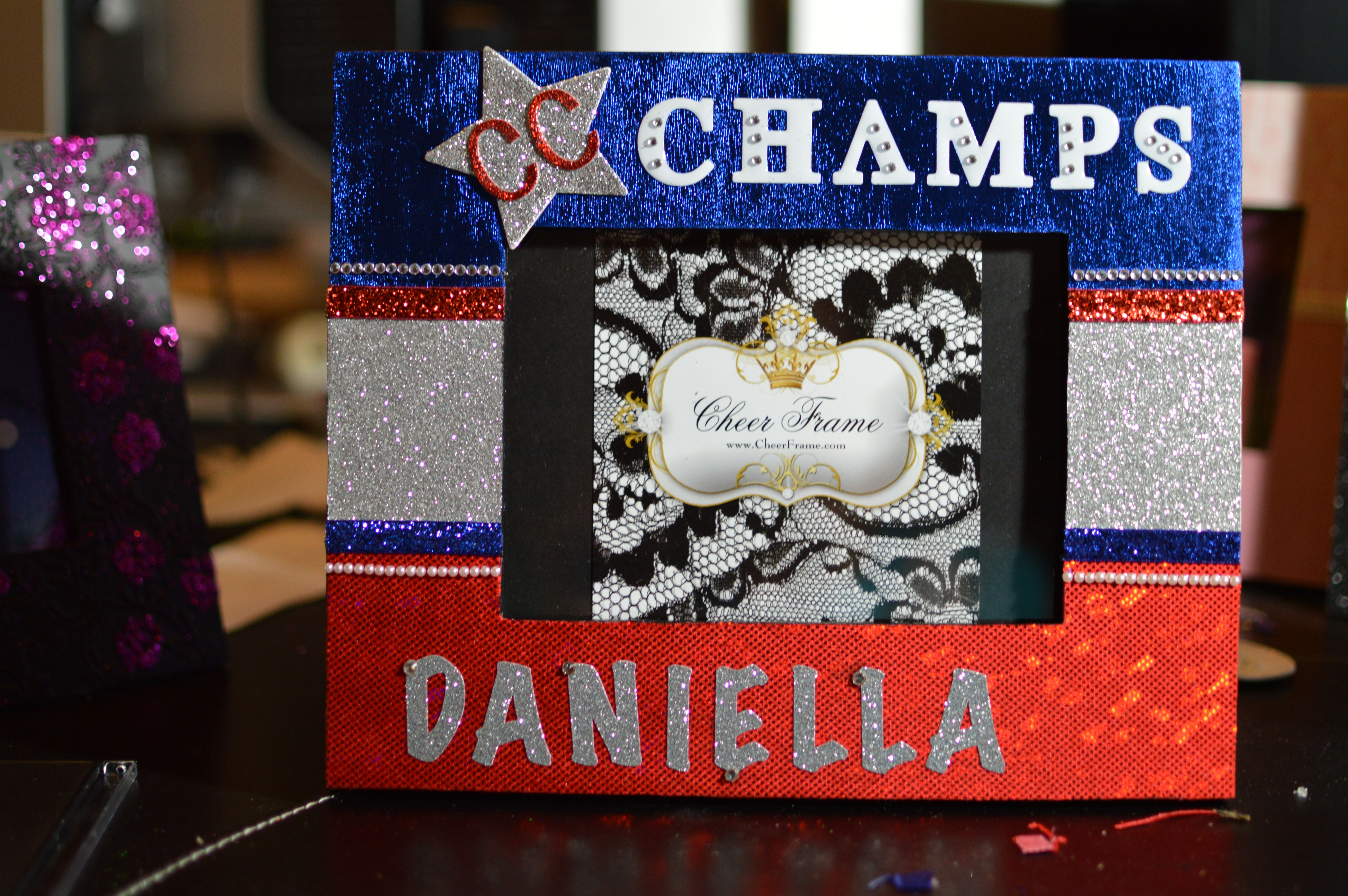 Awesome CC Champs Cheerleader Frame! | Cheer Frames | Pinterest ...