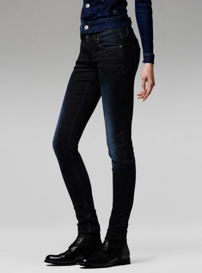 G-Star RAW Midge Sculpted Lift Mid Skinny Jeans Womens Jeans Jeans for Women COLOUR-dark aged