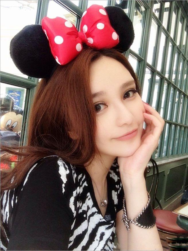 1 piece red Minnie mickey ear baby cartoon cute Headwear Bow women Hair  bands minnie mouse . 69bcb08d6ad