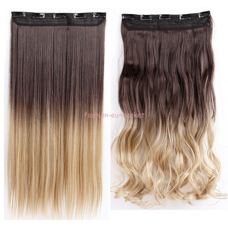 Long Women 100 New Real 34 Full Head Clip In Hair Extensions One