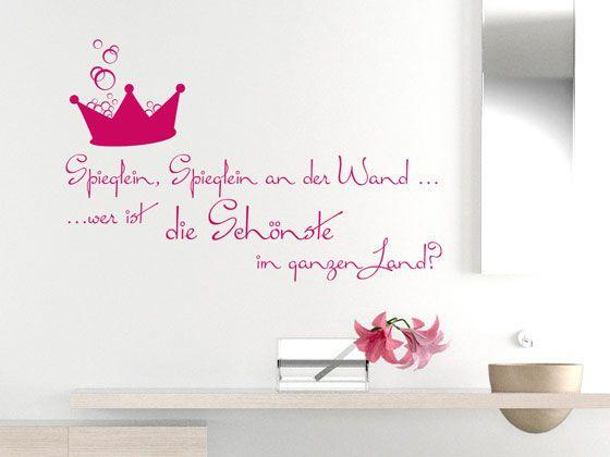 Wandtattoo #Badezimmer Spieglein Spieglein an der Wand #Spruch mit ...