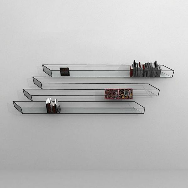 Wandregale Bücherregale optische täuschungen bilder wandregale illusionen