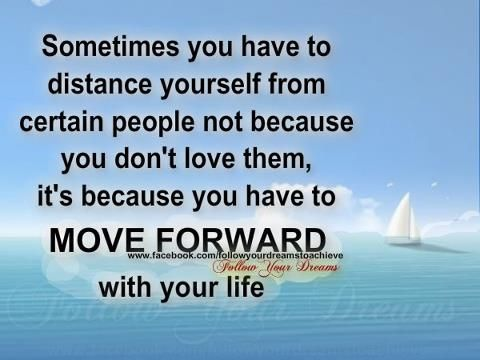 Sometimes you have to distance yourself....