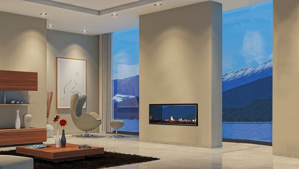 Double Sided Indoor Outdoor Fireplace More