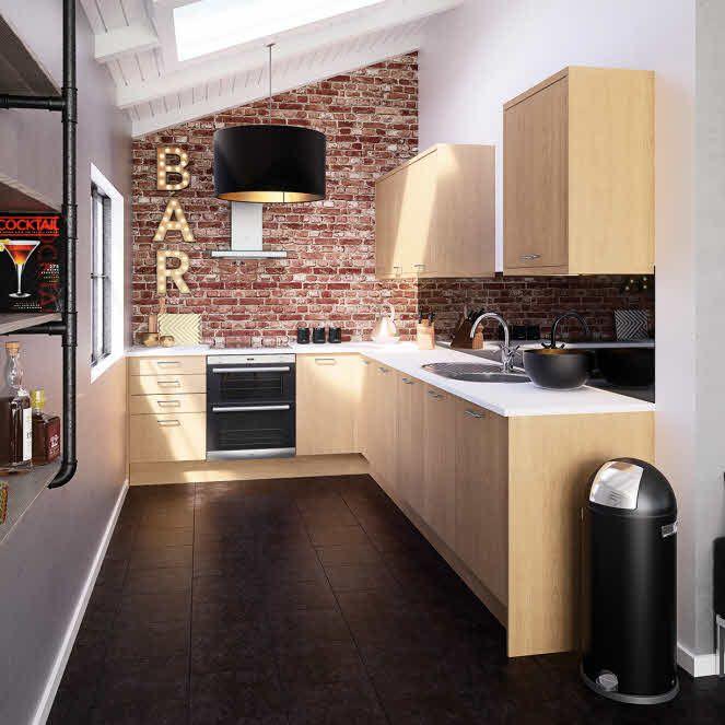 Fitted Kitchen Interior Designs Ideas Kitchen Cabinet: Oak Slab Fitted Kitchen By Magnet. #oakkitchen