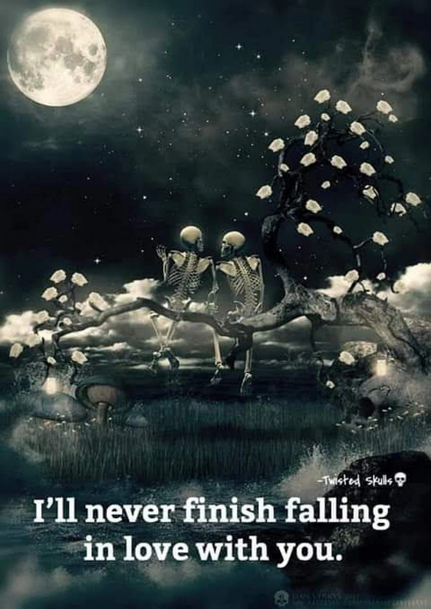 How Could I If I Keep On Falling Deeper And Deeper In Love With You Every Single Day Dark Love Quotes Gothic Wallpaper Dark Love