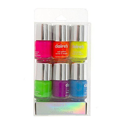 Claires Accessories Neon Nail Polish Set Of 6 Check Out This