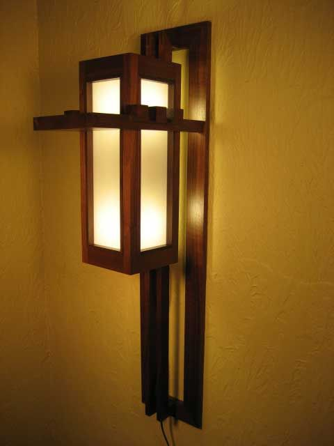 Frank Lloyd Wright Wall Sconce Woodworking Blog Videos Plans How To In 2020 Craftsman Floor Lamps Ceiling Light Design Wood Light Fixture
