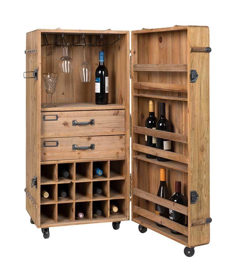 Rangement Bouteille De Vin 16 Meubles Pour Le Salon En 2020 Meuble Bar Armoire A Vin Bar En Bois