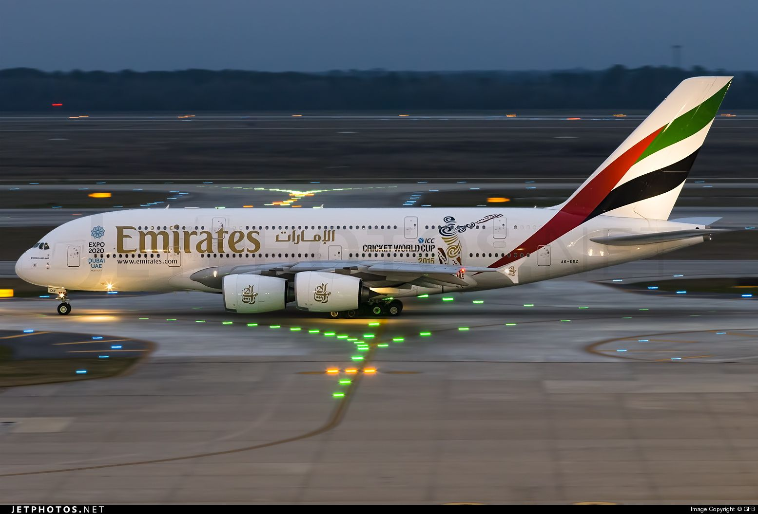 Airbus A380 861 A6 Edz 107 Houston George Bush Intercontinental