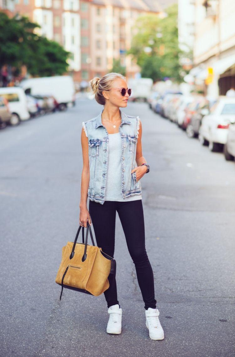 Jeansweste kombinieren – 20 moderne Street Style Outfits
