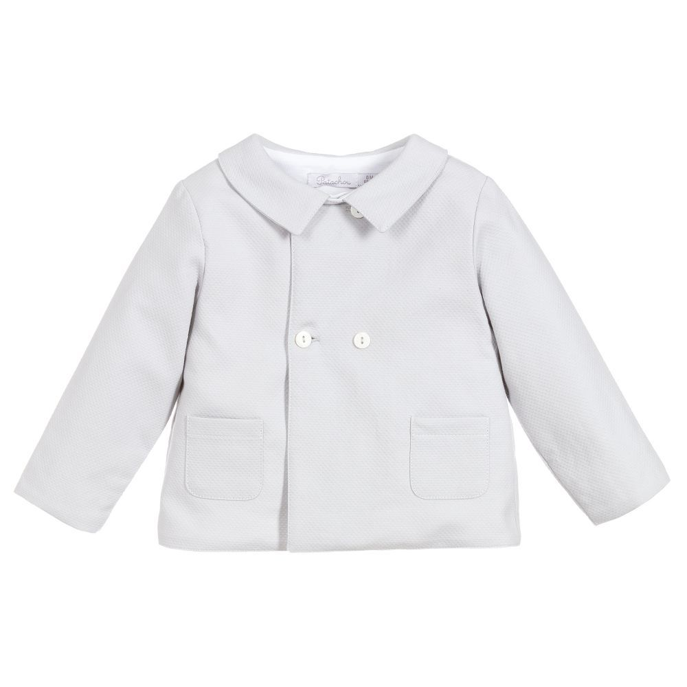 b97c842a5bbe Grey Cotton Baby Jacket