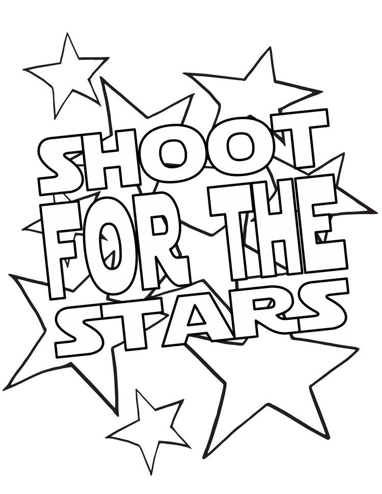 Shoot For The Stars On Stars Stevie Doodles Free Coloring Page