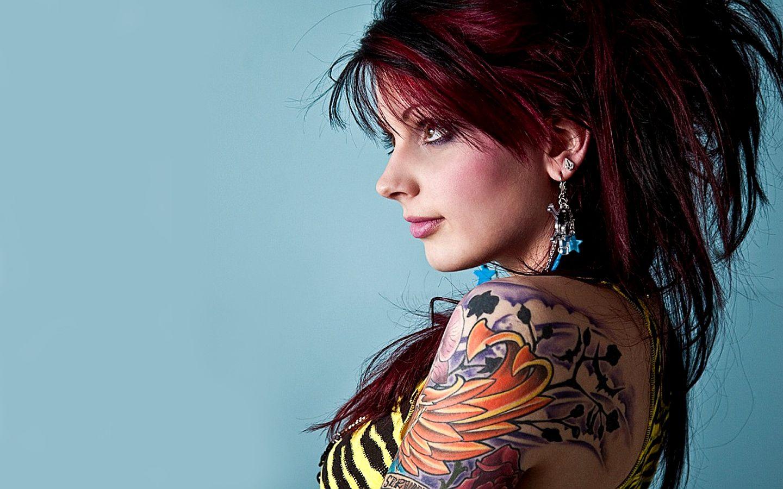 Tattoo Girl HD Wallpaper Tattooed girls models, Girl
