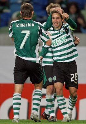 Joao Moutinho E Marat Izmailov Sporting Sporting Clube De