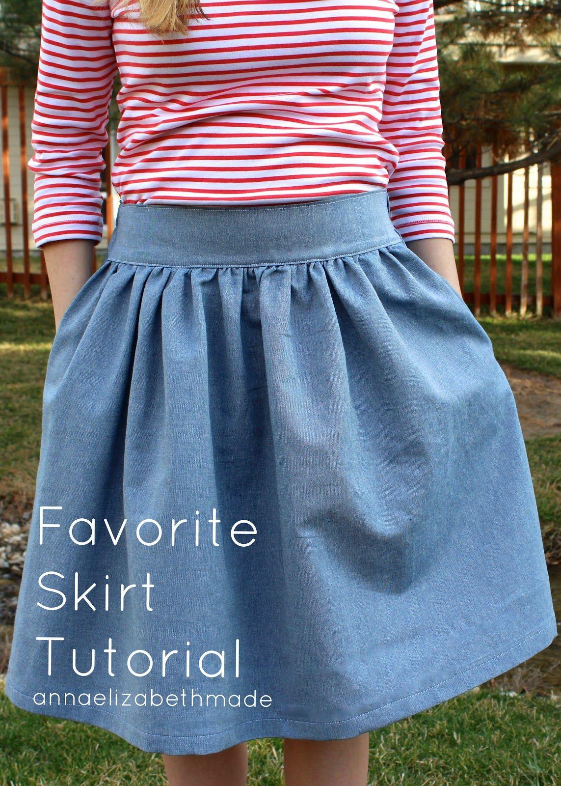 my favorite skirt {tutorial} || anna elizabeth made | sew it
