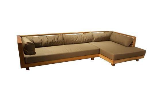 Solid Teak Wood L Shape Patio Sofa Without Cushion V 2020 G Mebel I Interer