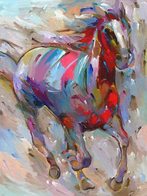 Pretty horse painting