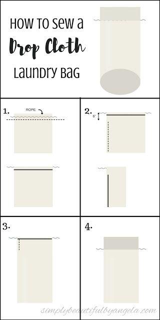 Diy Wire Hamper With Canvas Laundry Bag Diy Laundry Laundry Bags Diy Laundry Bags Pattern