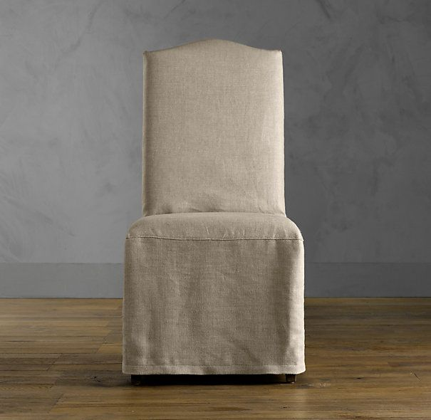Hudson Camelback Slipcovered Side Chair Home Office