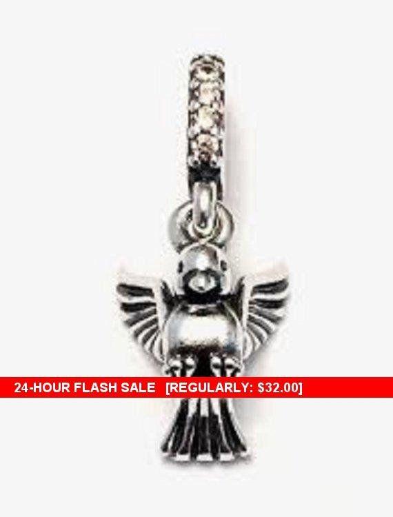 Authentic Pandora Dove Of Peace Pendant Dangle Charm 791394