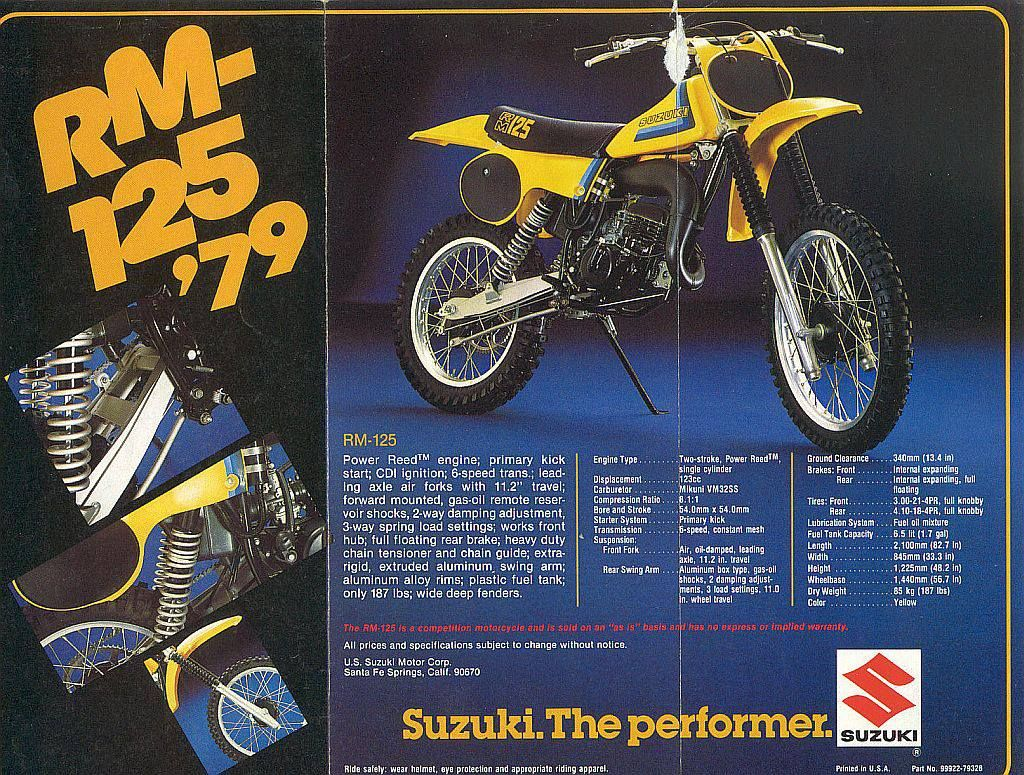 1979 Suzuki Rm125 Ad Motocross Bikes Suzuki Dirt Bikes Vintage Motocross