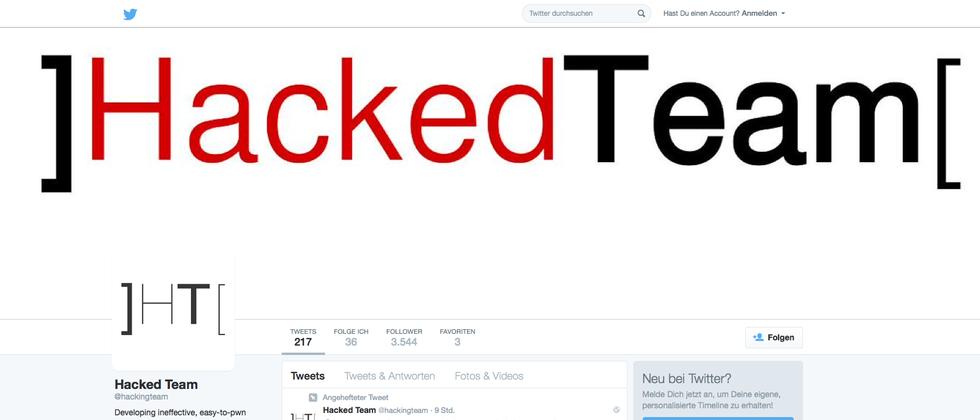 Gehacktes Twitter-Konto von Hacking Team