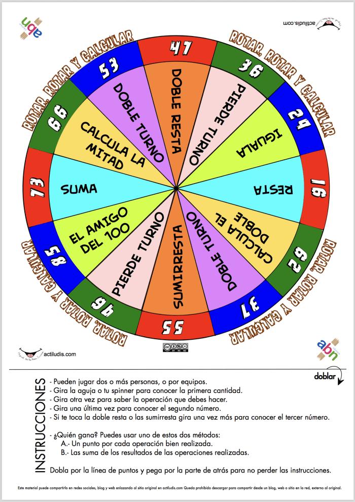 Rotar Rotar Y Calcular Actiludis Fichas De Matematicas