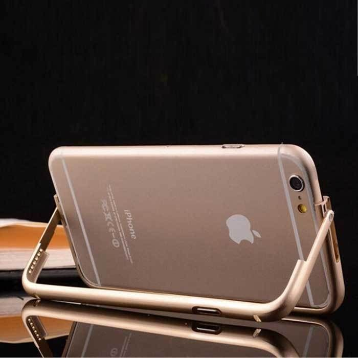 Gold Aluminum Stand Bumper Thin Metal Luxury Case W/Button Skin For iPhone 6 4.7 #Unbranded