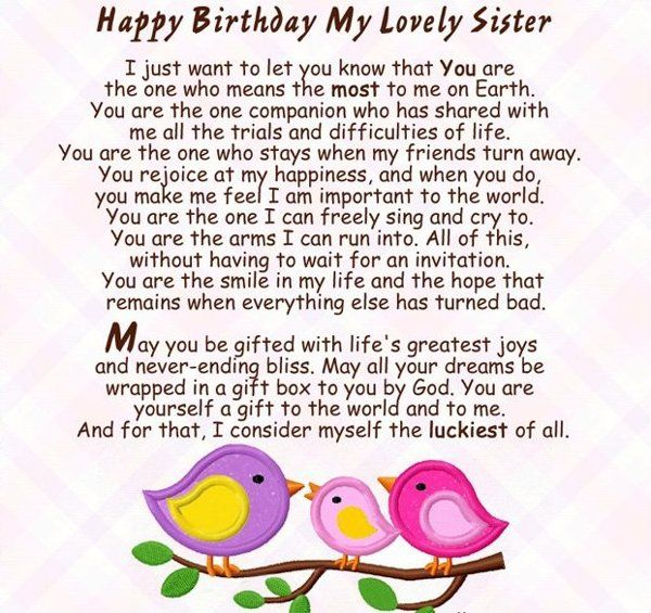 Happy Birthday To A Special Sister Quotes: Happy Birthday To My Sister