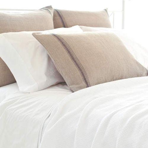 Pine Cone Hill Tea Towel Linen Stripe Plum Sham Free Shipping