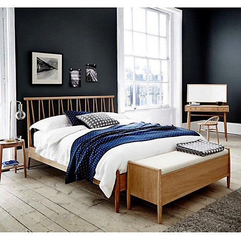 Bedroom Furniture John Lewis ercol for john lewis shalstone bed frame, oak, double | john lewis