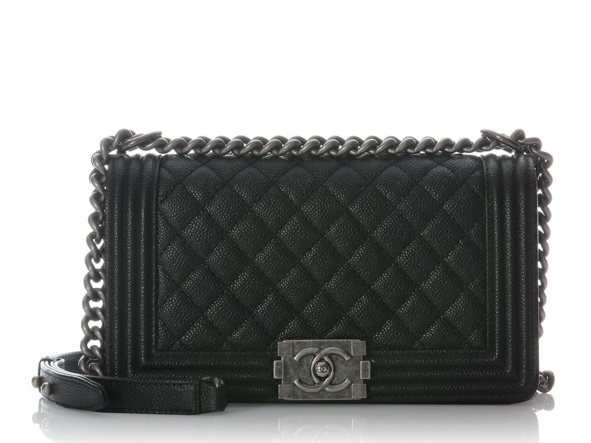 ac8332c010ff62 Chanel 25cm Black Caviar Boy Bag | My Wish List | Chanel bag black ...