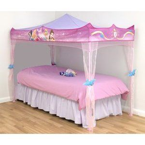 Gosh Disney Princess Bed Canopy Stands Over Single Size Bed Amazon Co Uk Kitchen Home Girl Bedroom Walls Bed Canopy Princess Canopy Bed
